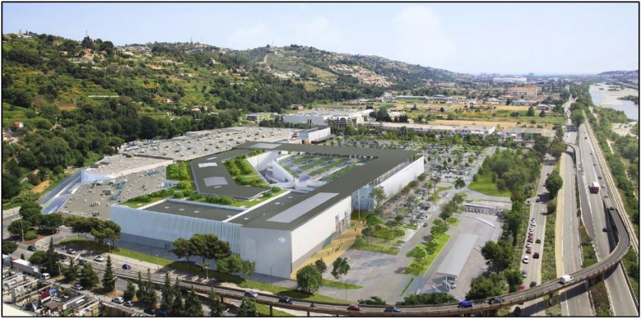 Chantier en cours : EXTENSION DU CENTRE COMMERCIAL DE NICE LINGOSTIERE